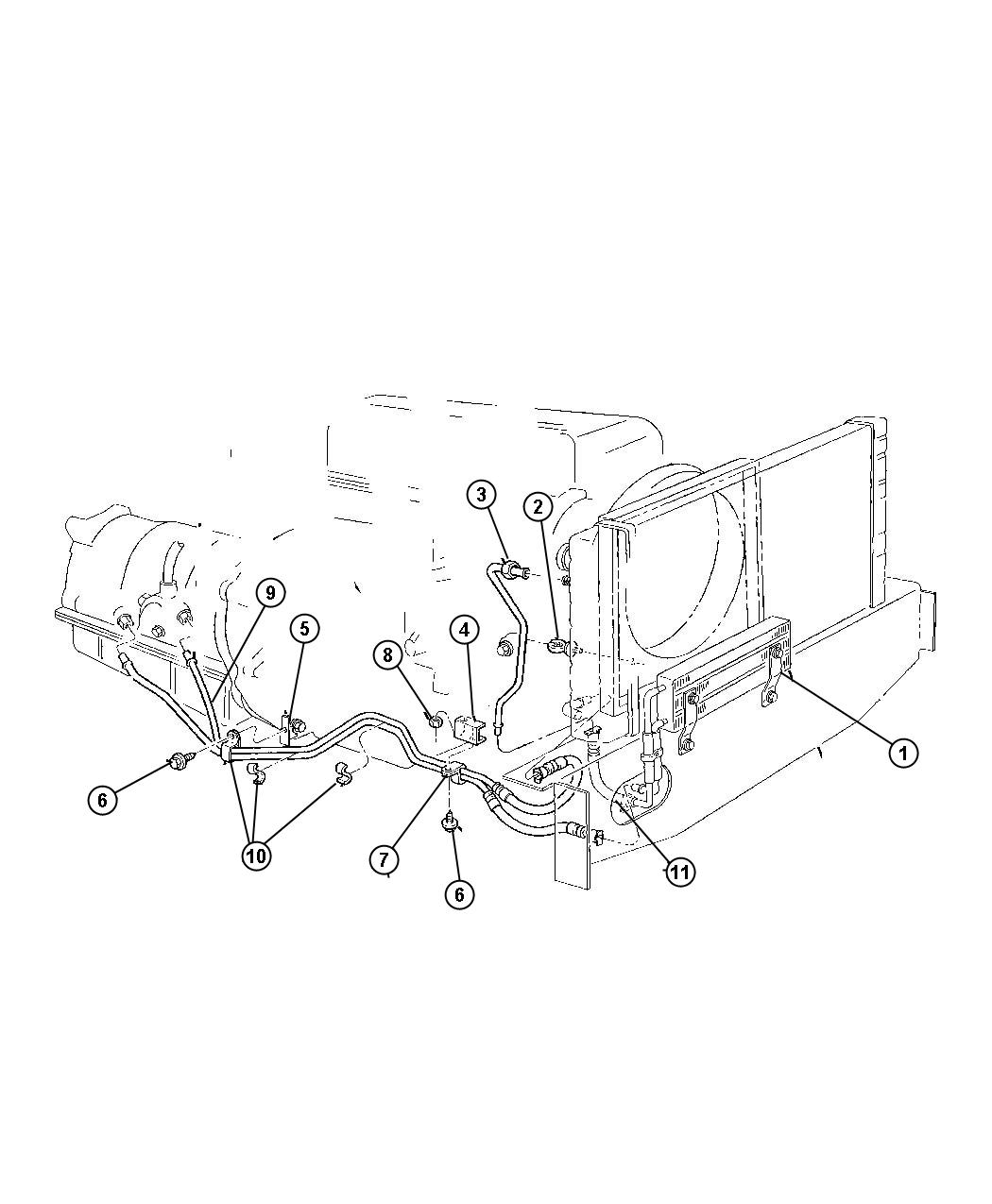 Jeep Cherokee Used For Tube And Hose Oil Cooler