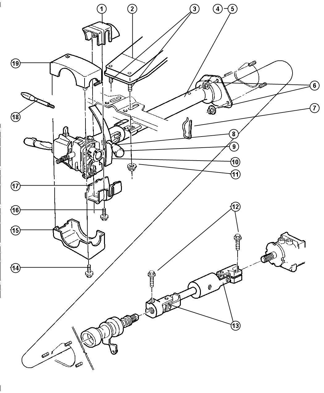 Dodge Ram Bracket Mounting Steering Column Clutch