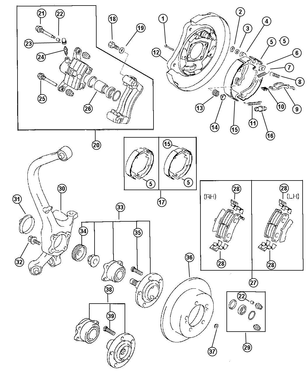 Dodge Avenger Spring Brake Shoe Return 3 0l Engine 3 0l