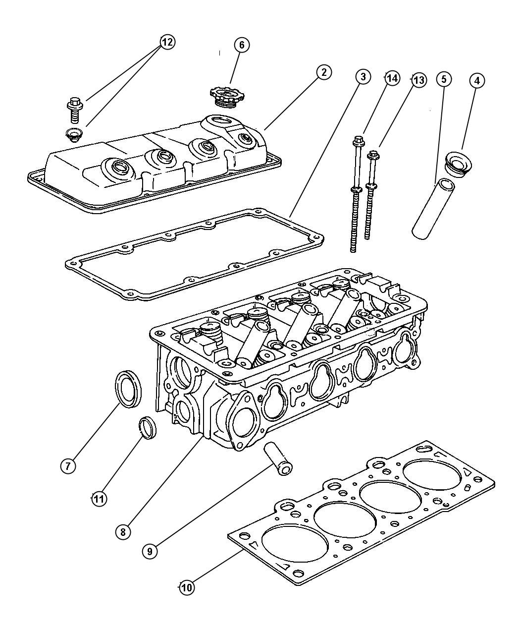 Dodge Neon Gasket Package Cylinder Head