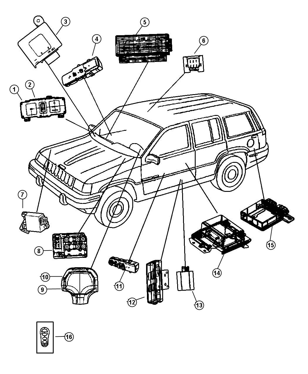 Jeep Grand Cherokee Module Daytime Running Lamp