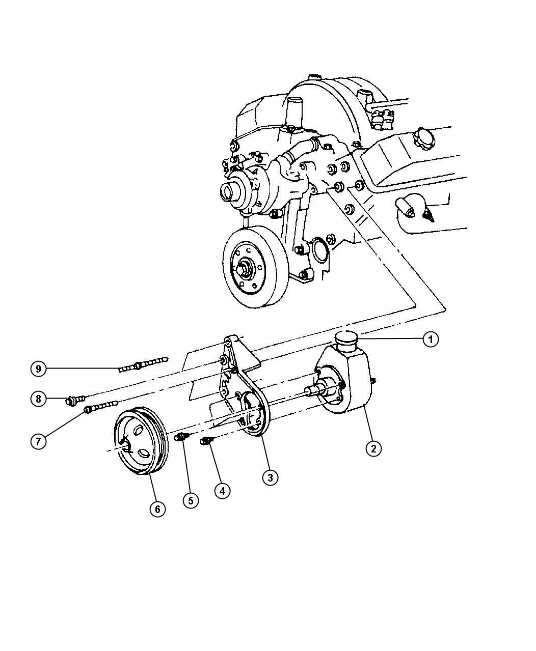 Dodge Dakota Pump Power Steering New Part For Core