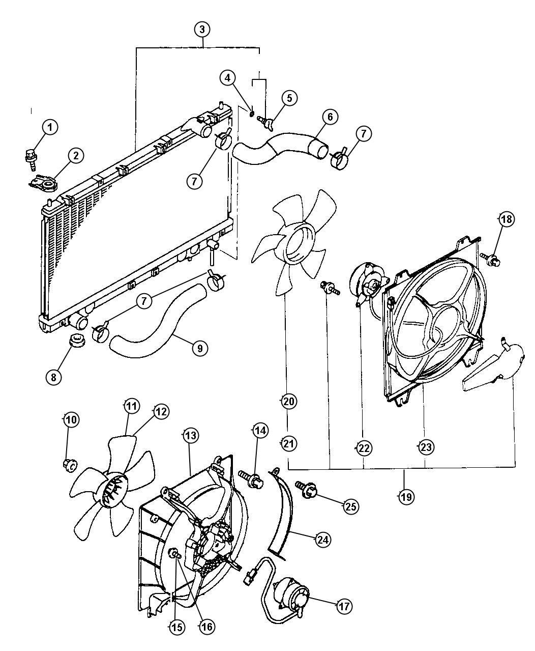 Chrysler Sebring Radiator Engine Cooling Mopar