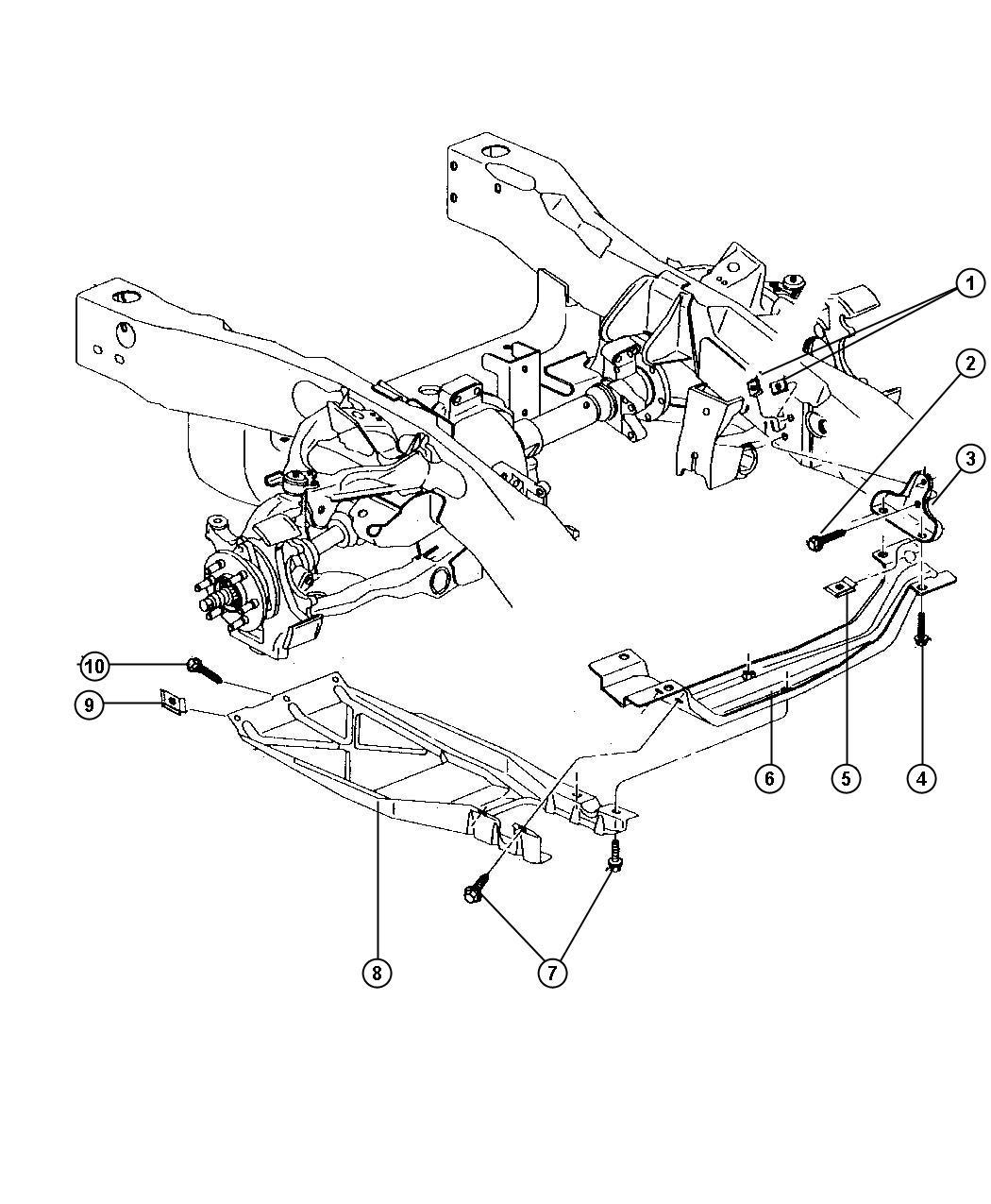 Dodge Ram Crossmember Front Axle Skid Plate