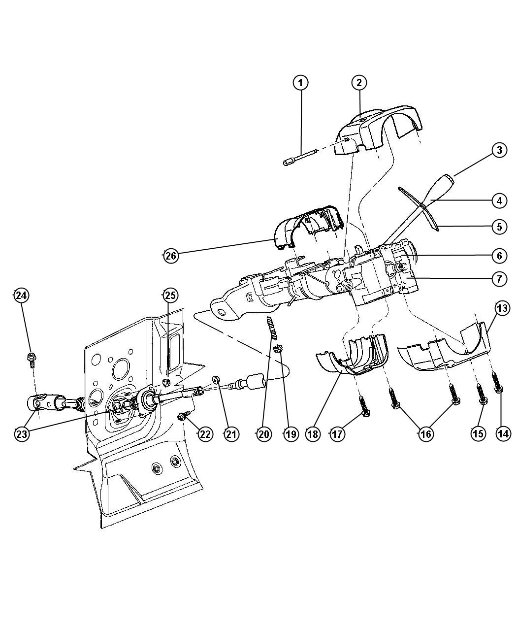 Dodge Dakota Steering Diagram