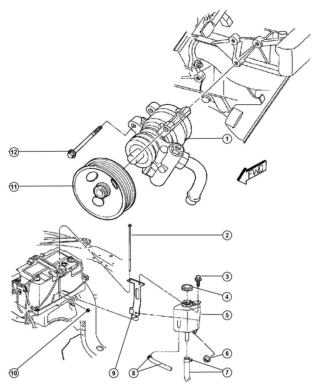 Dodge Dakota Pump Power Steering Without Pulley