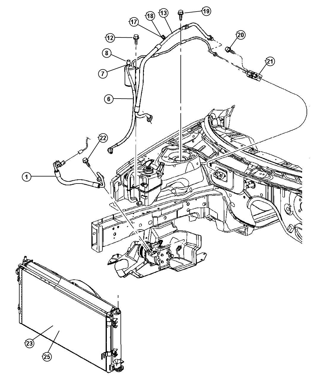 Jeep Liberty Cooler Used For Condenser And Trans