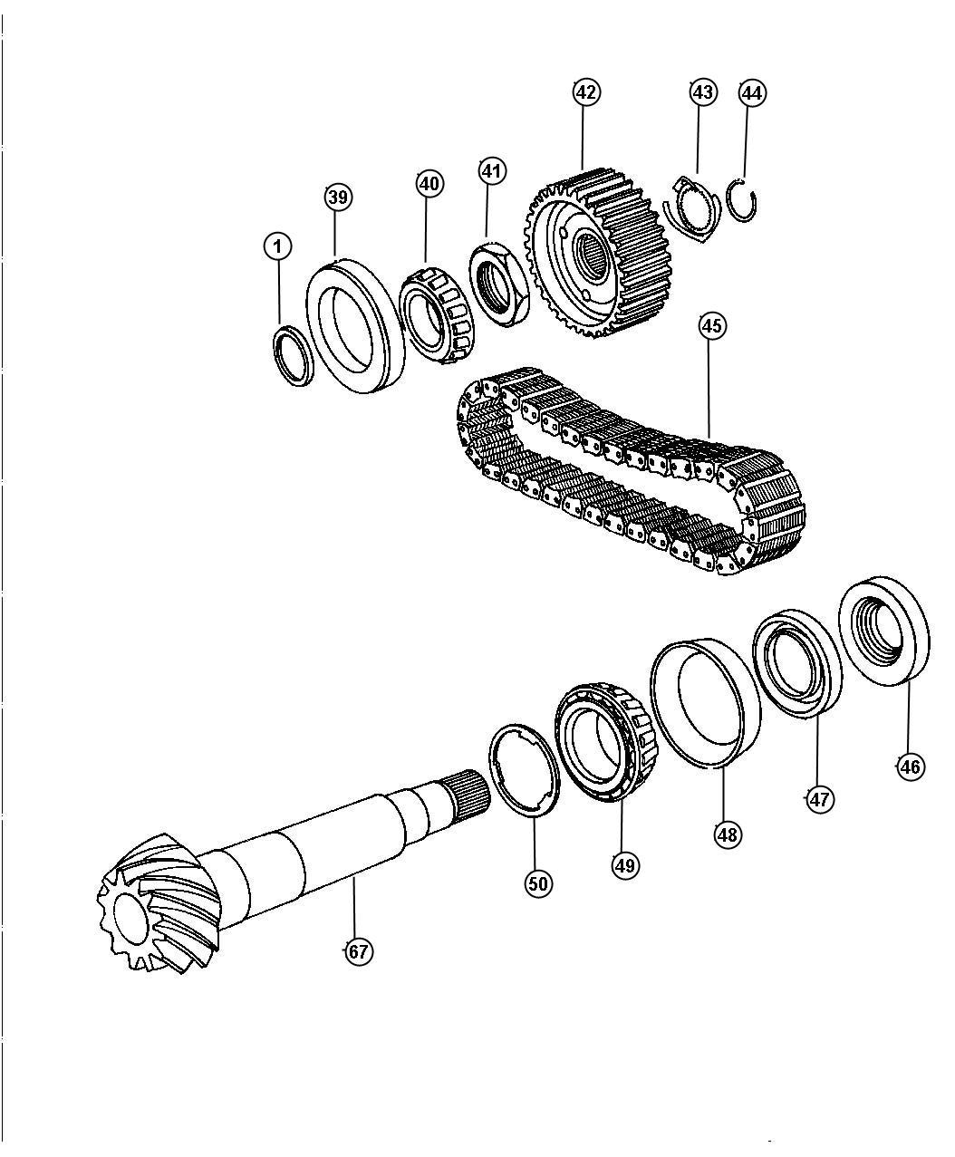 Dodge Intrepid Bearing Cone Transfer Shaft