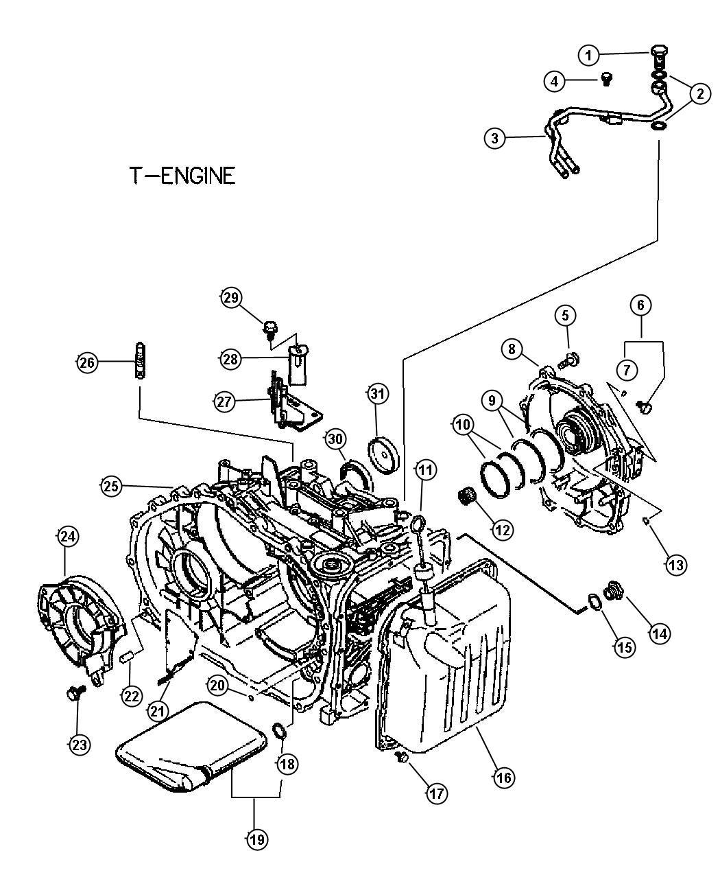 Chrysler Sebring Filter Valve Body Cylinder Case