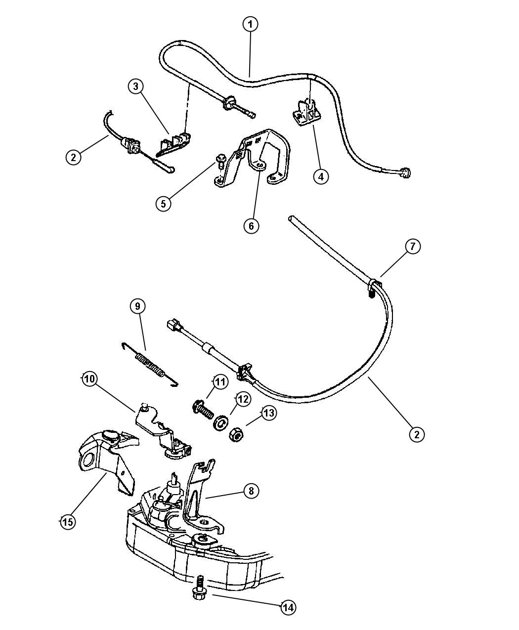 Chrysler Sebring Cable Accelerator Left