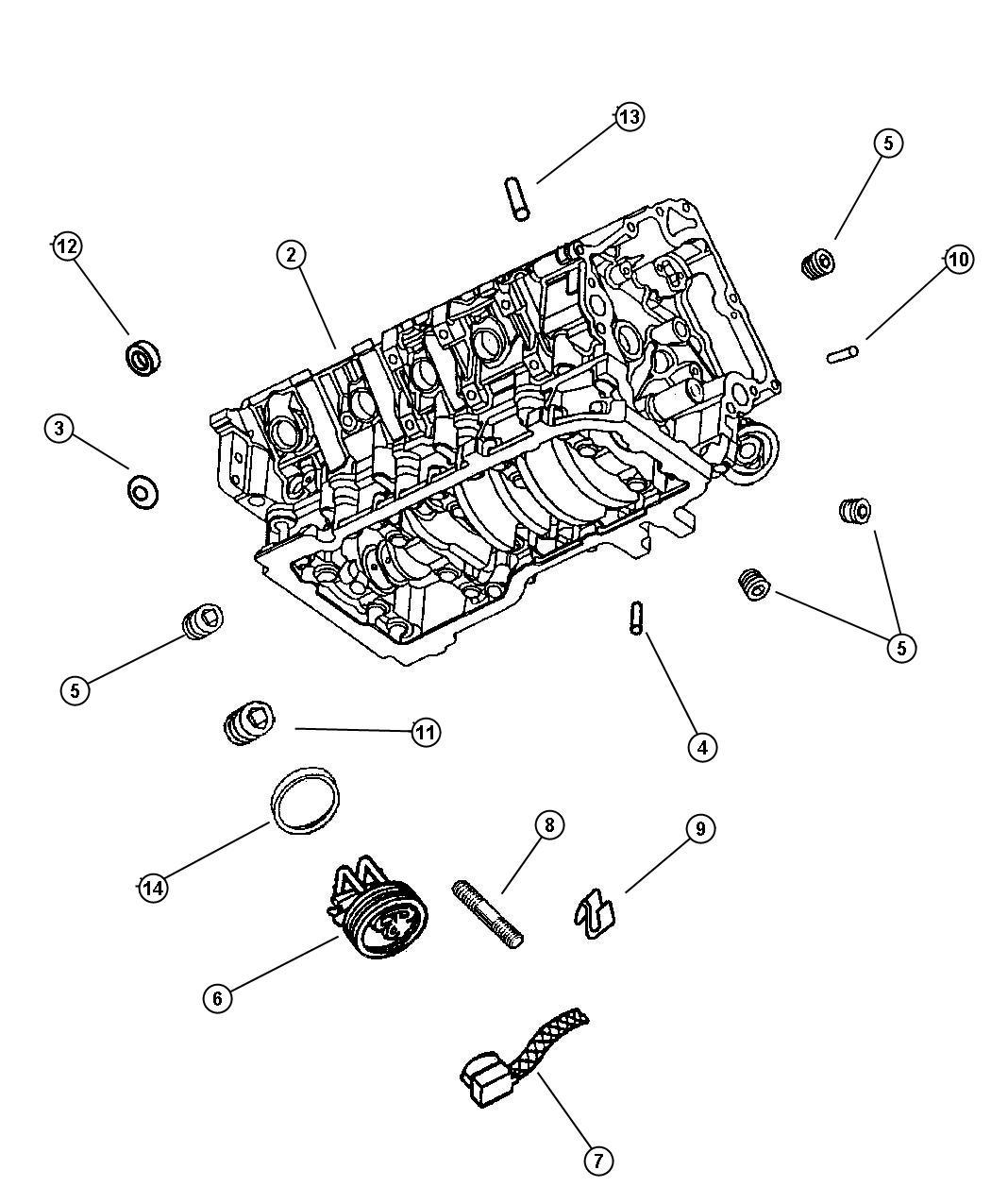 Dodge Durango Engine Long Block Remanufactured
