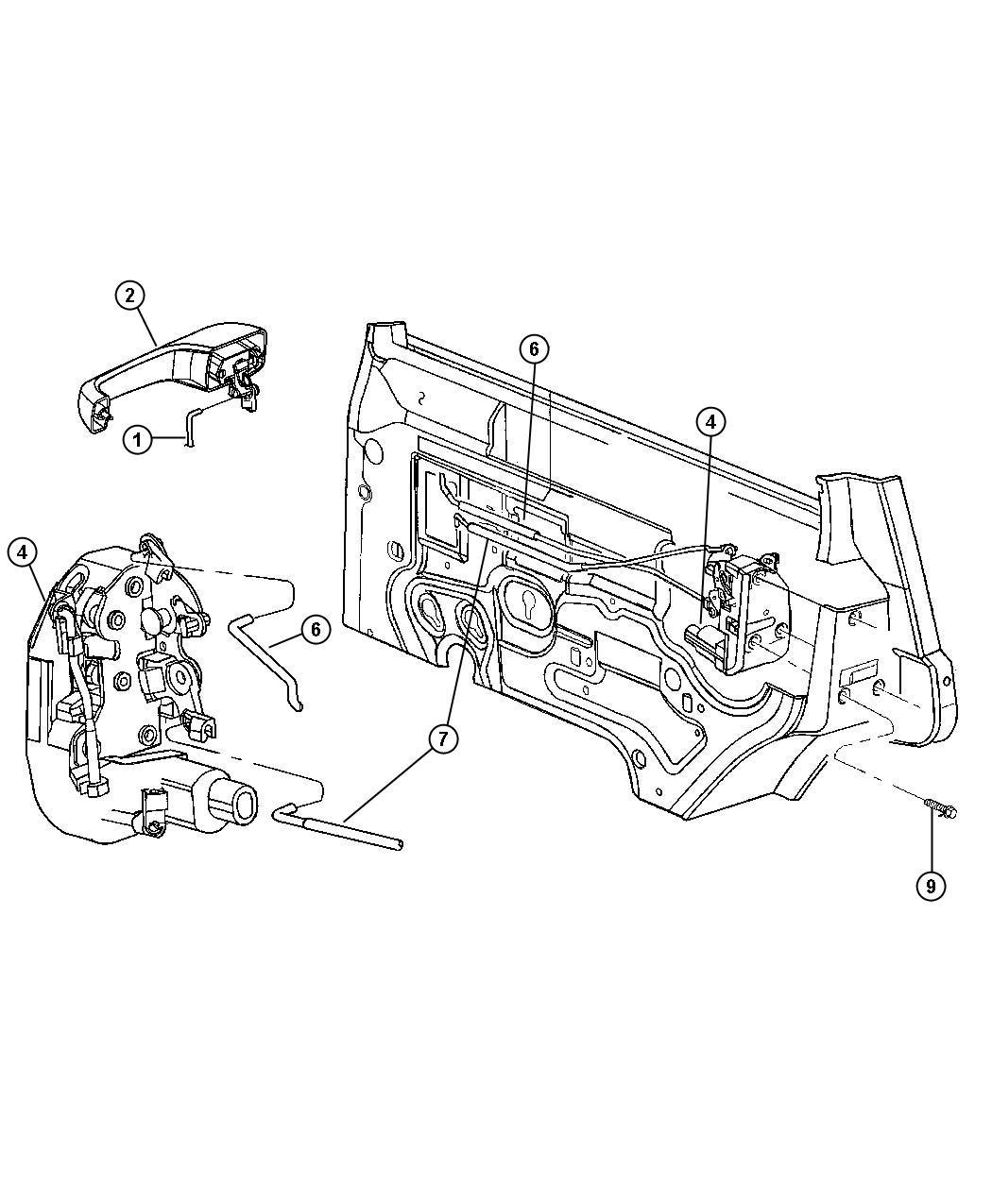 Jeep Cherokee Latch Rear Door Right Power Locks Child