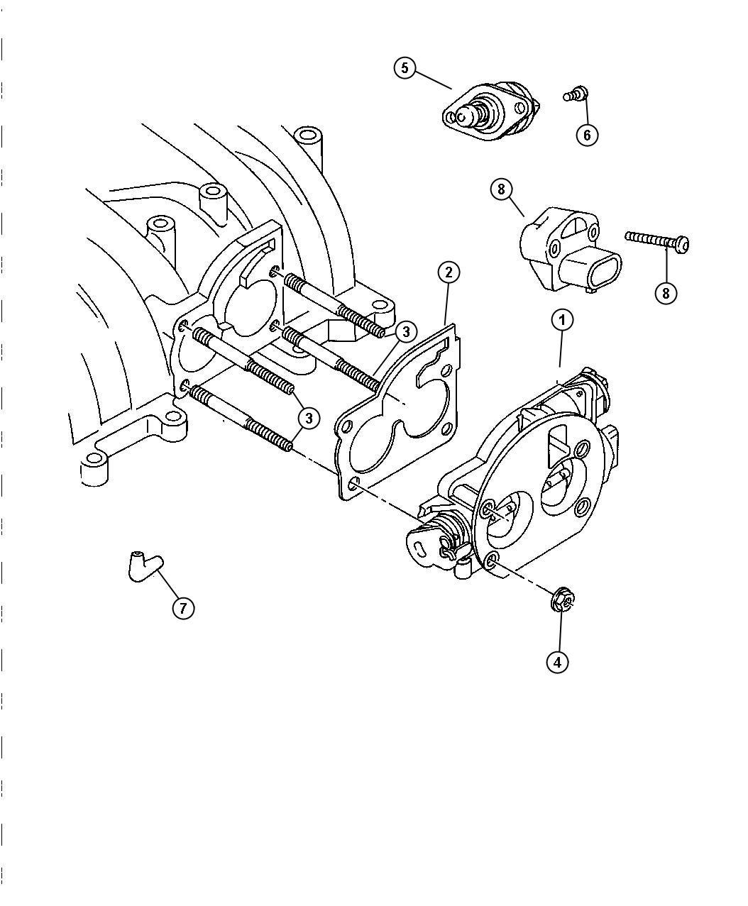 Chrysler Concorde Connector Emission Hose Formed