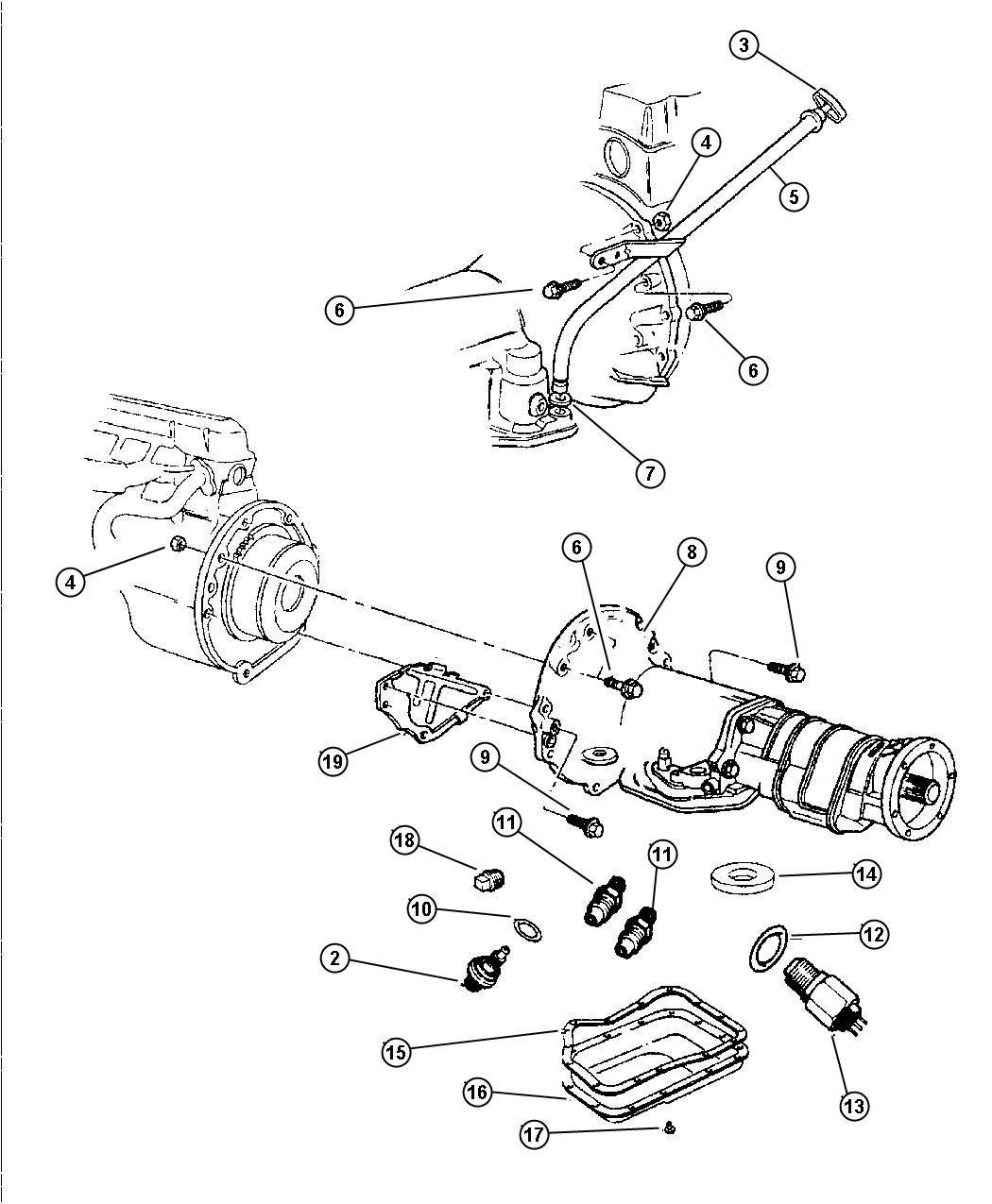 Chrysler Crossfire Tube Transmission Oil Filler