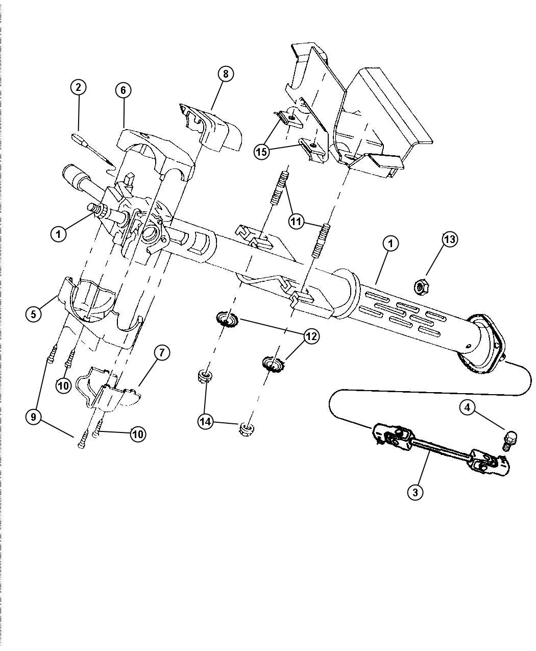 Dodge Viper Shroud Lock Housing Steering Column Lower