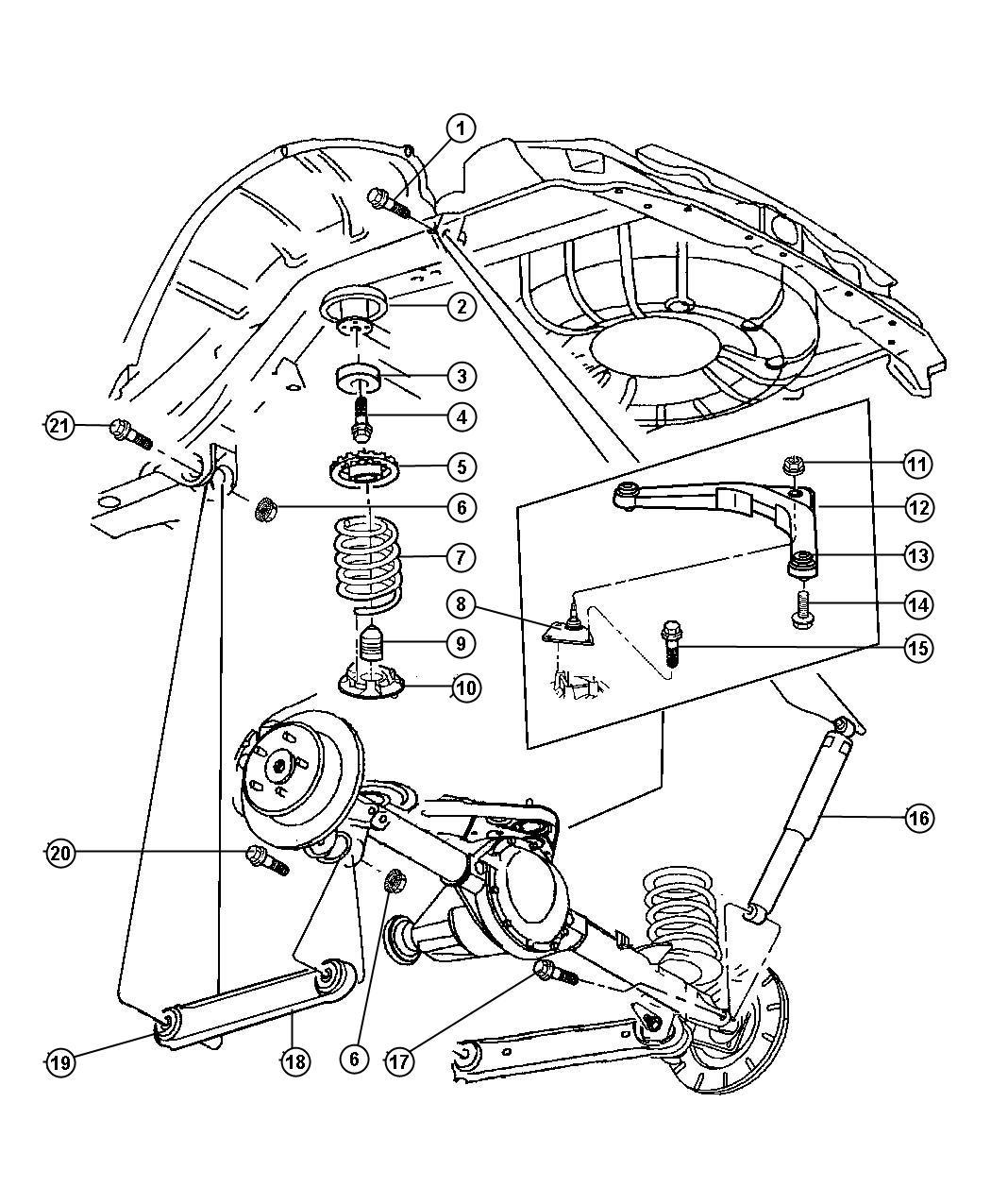 Jeep Grand Cherokee Bushing Control Arm Upper