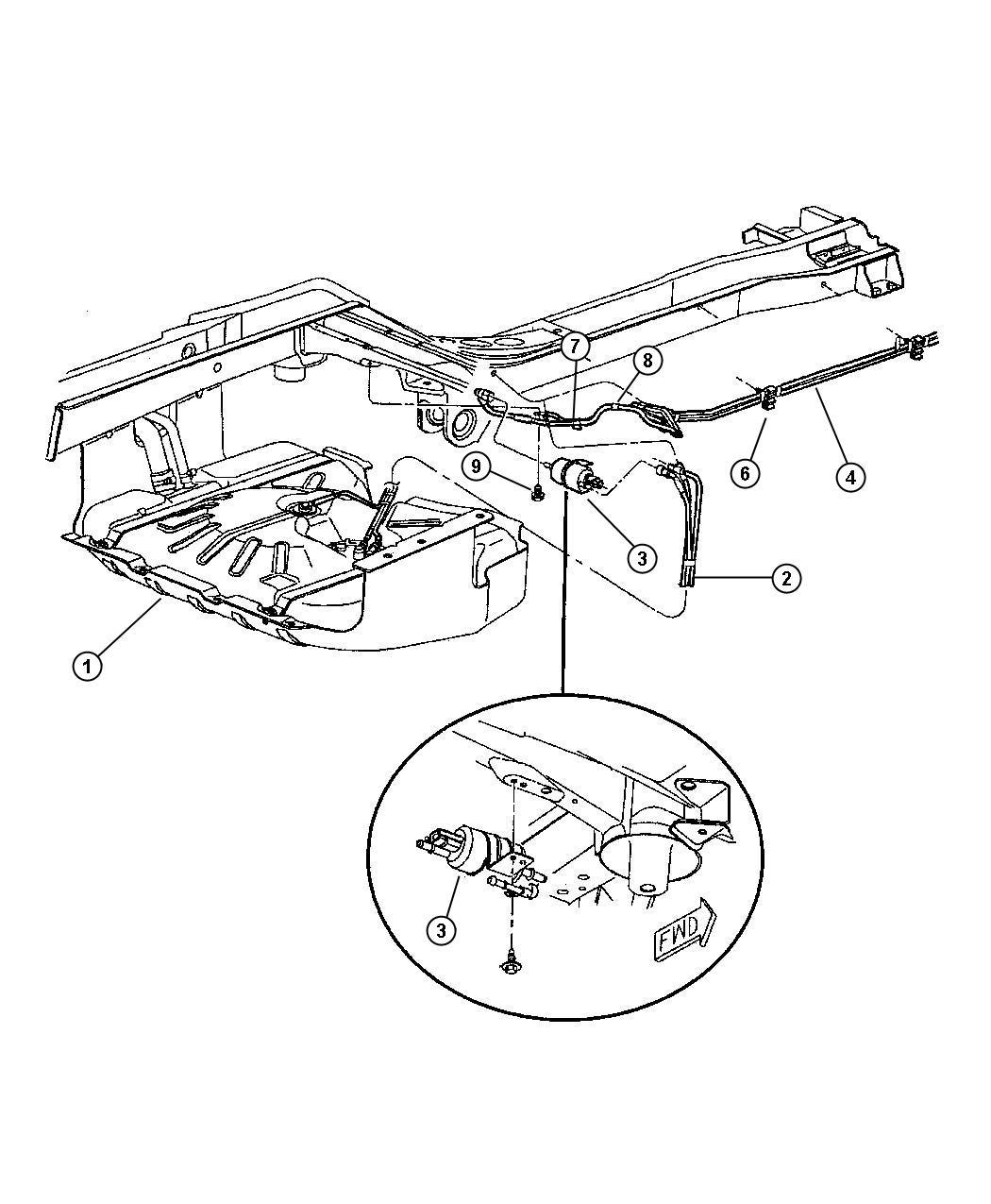 Jeep Grand Cherokee Filter Fuel Lines Rear Eva