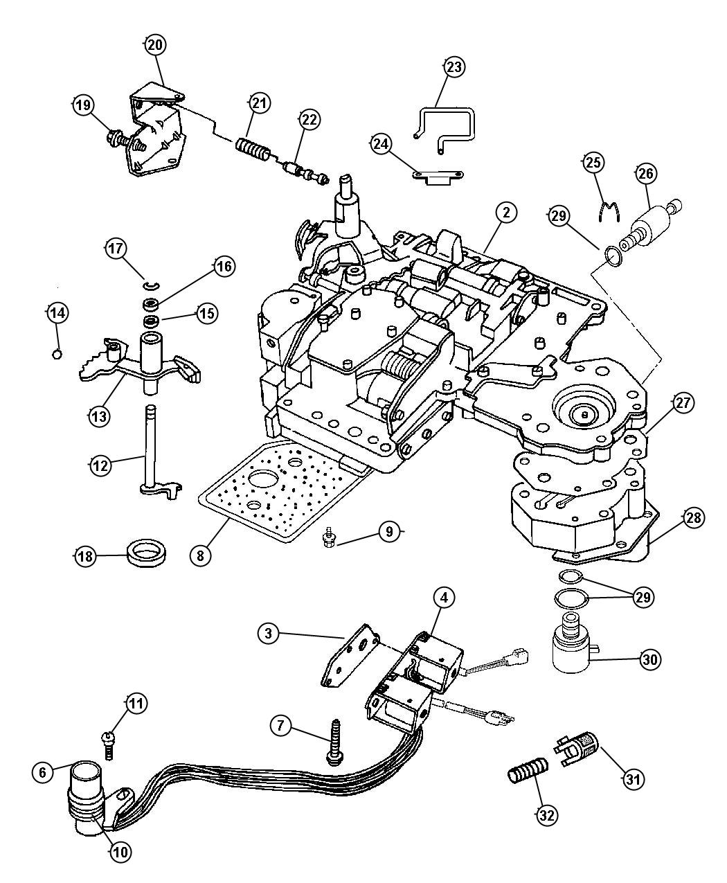 Chrysler Pacifica Body Valve Transmission Spd