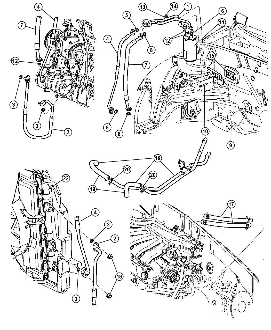 Chrysler Pt Cruiser Switch Switch Kit A C Cycling A C