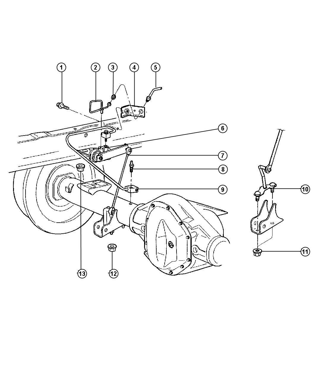 Dodge Ram Tube Brake Rear Hose Junction
