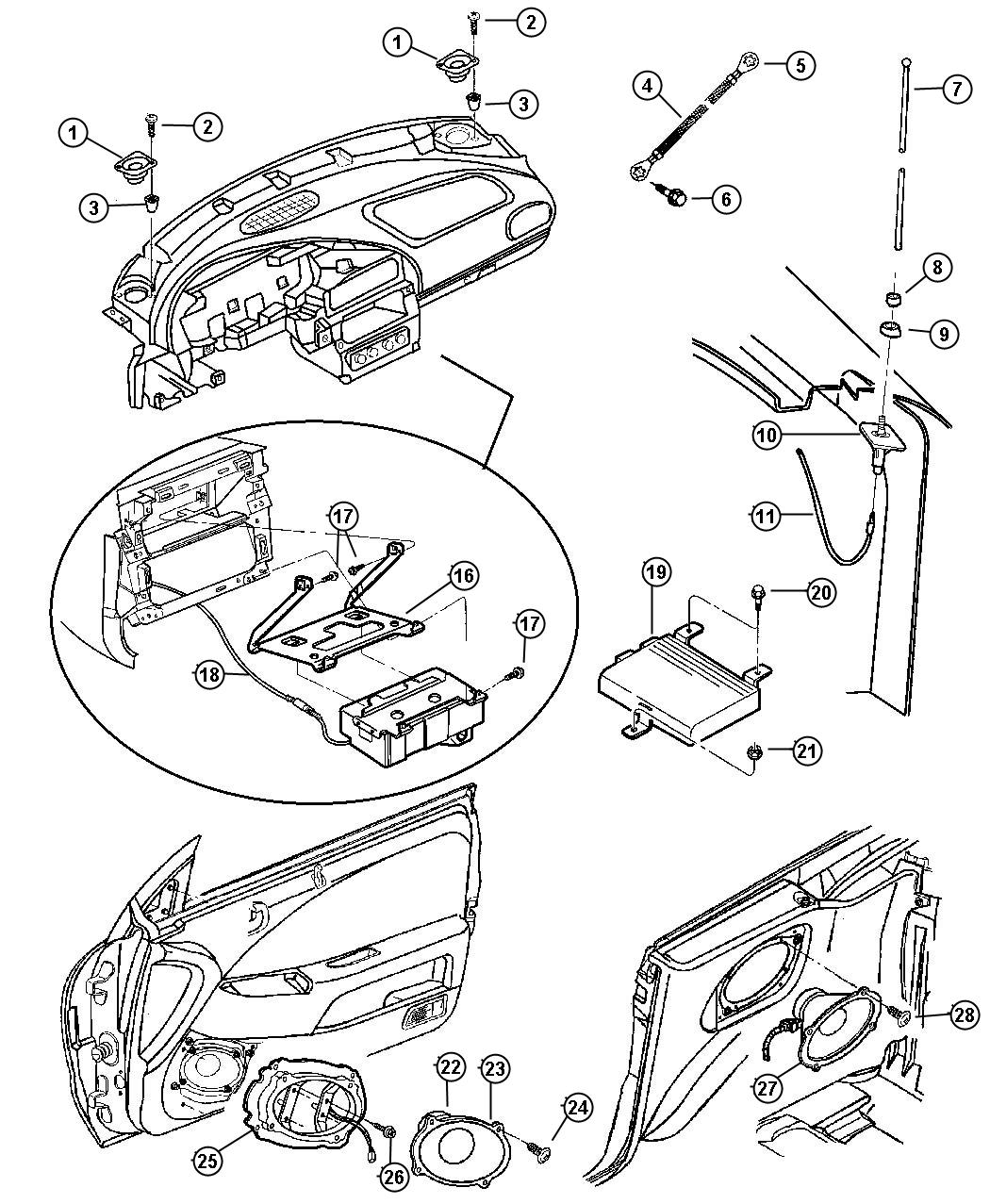 Chrysler Sebring Amplifier Radio Audio System