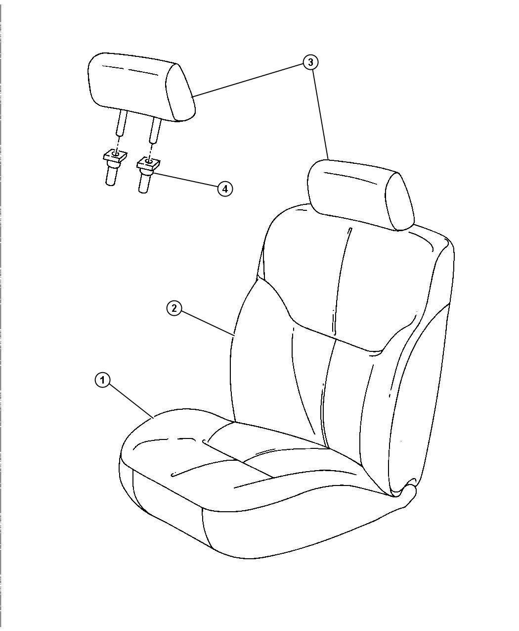 Dodge Stratus Headrest Front T5 Trim Seat