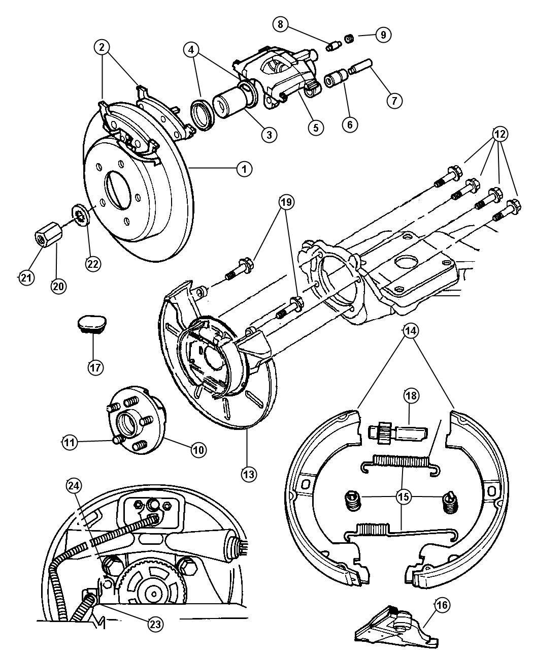 Dodge Grand Caravan Adjuster Parking Brake Disc