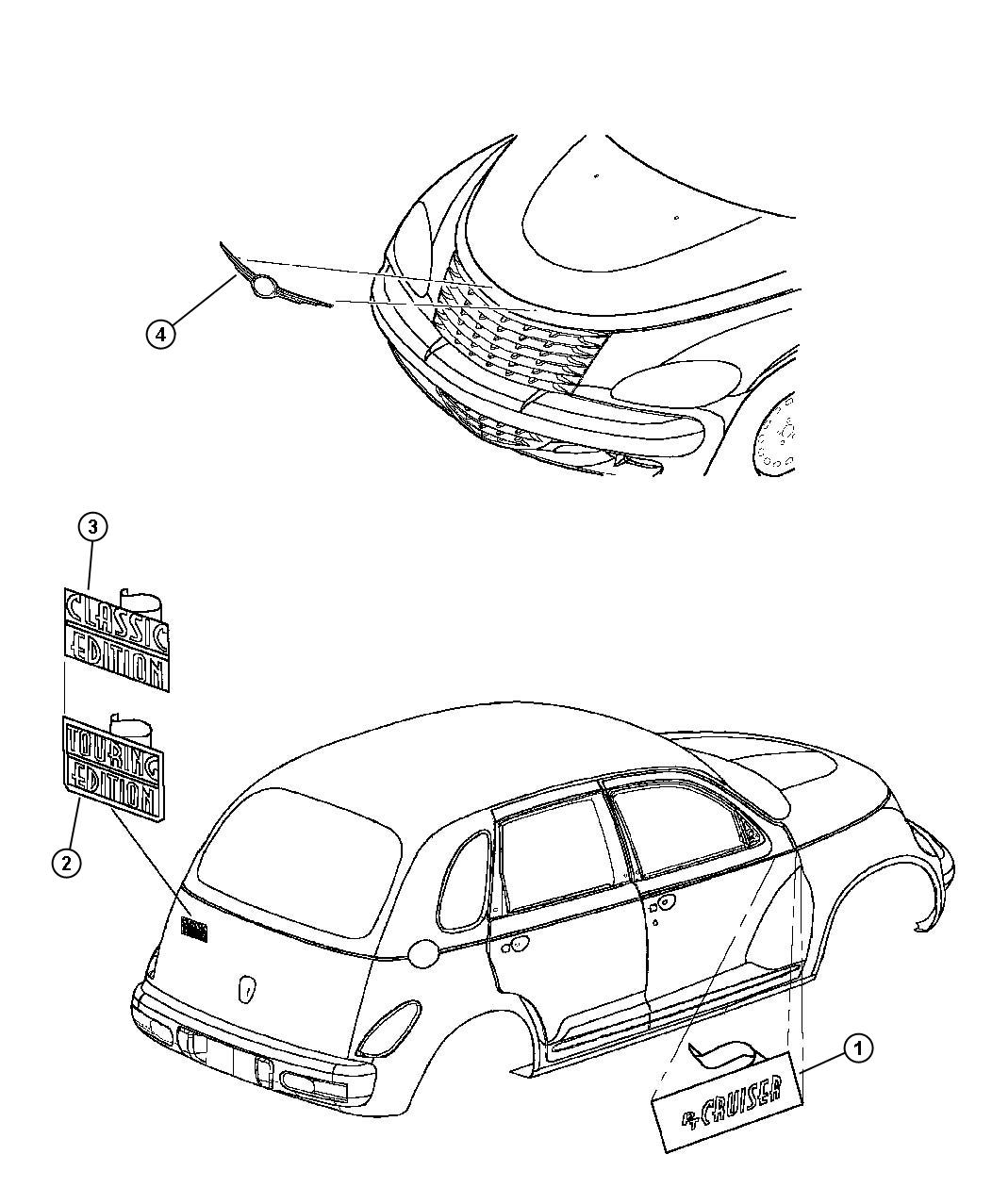 Chrysler Pt Cruiser Nameplate Chrysler Hood Wing