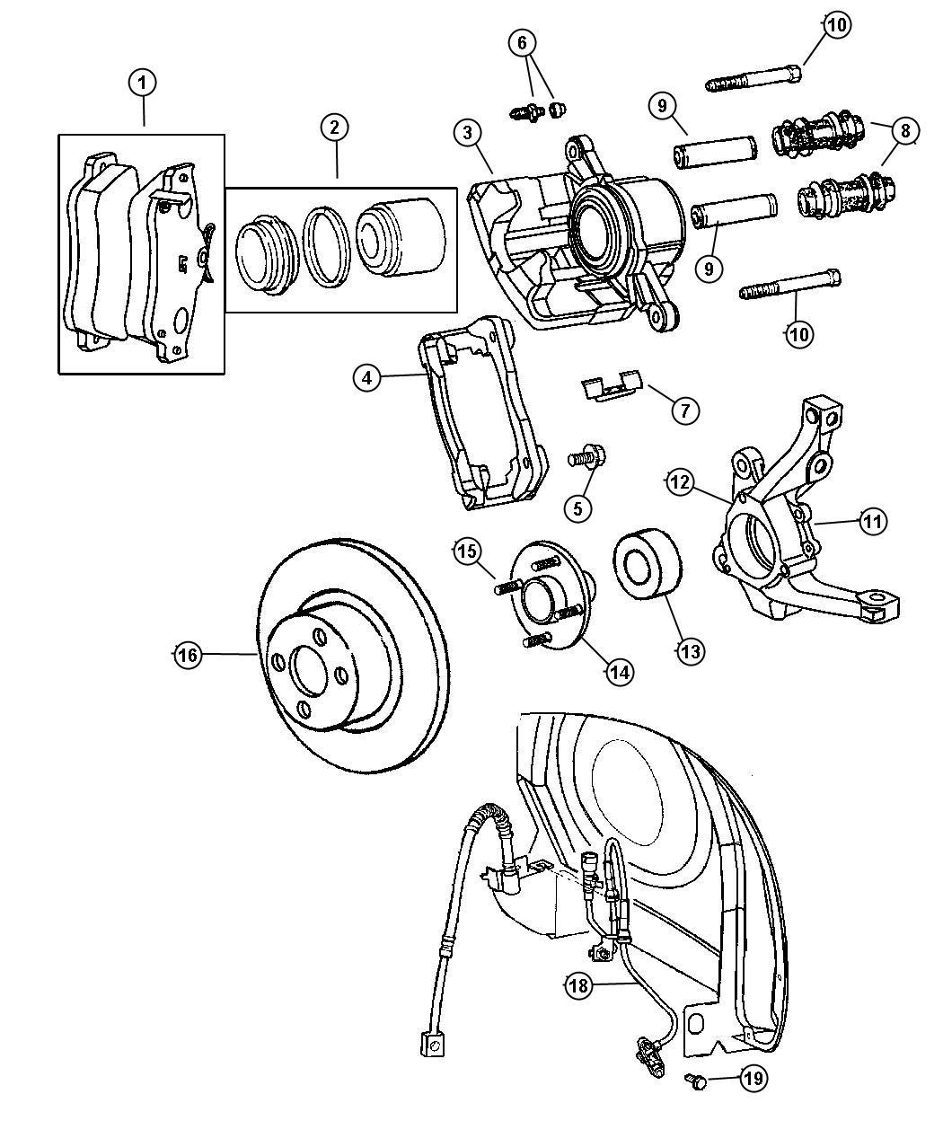 Chrysler Pt Cruiser Caliper Disc Brake Right