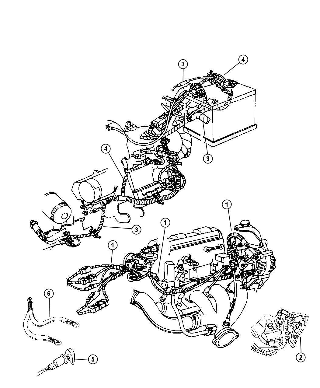 Dodge Intrepid Strap Ground Engine Right
