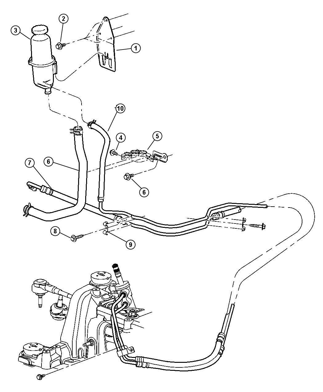 Dodge Nitro Bracket Power Steering