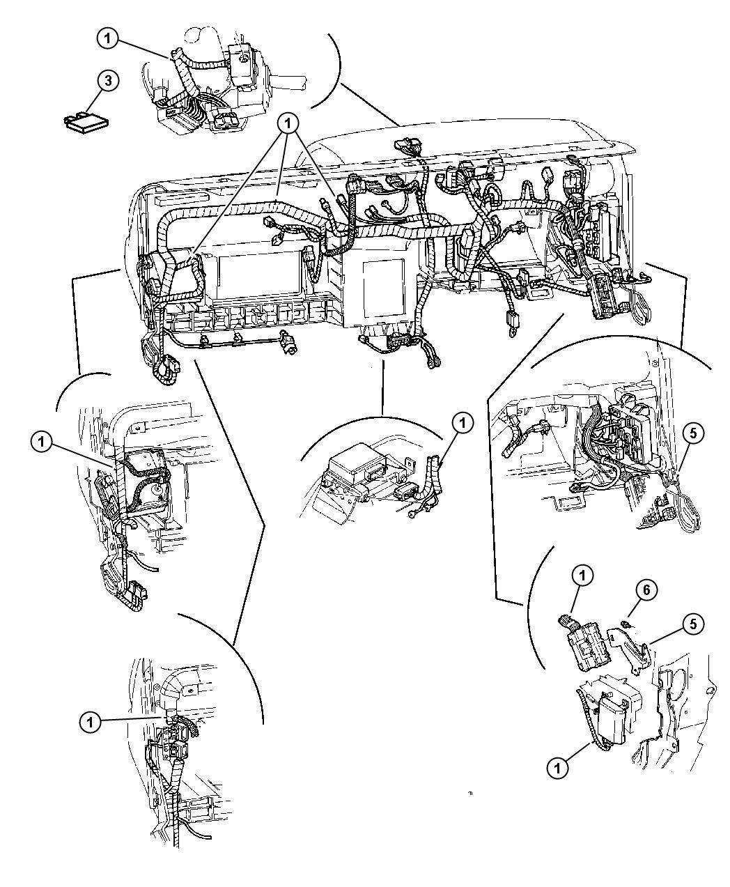 Dodge Journey Flasher Instrument Wiring Panel