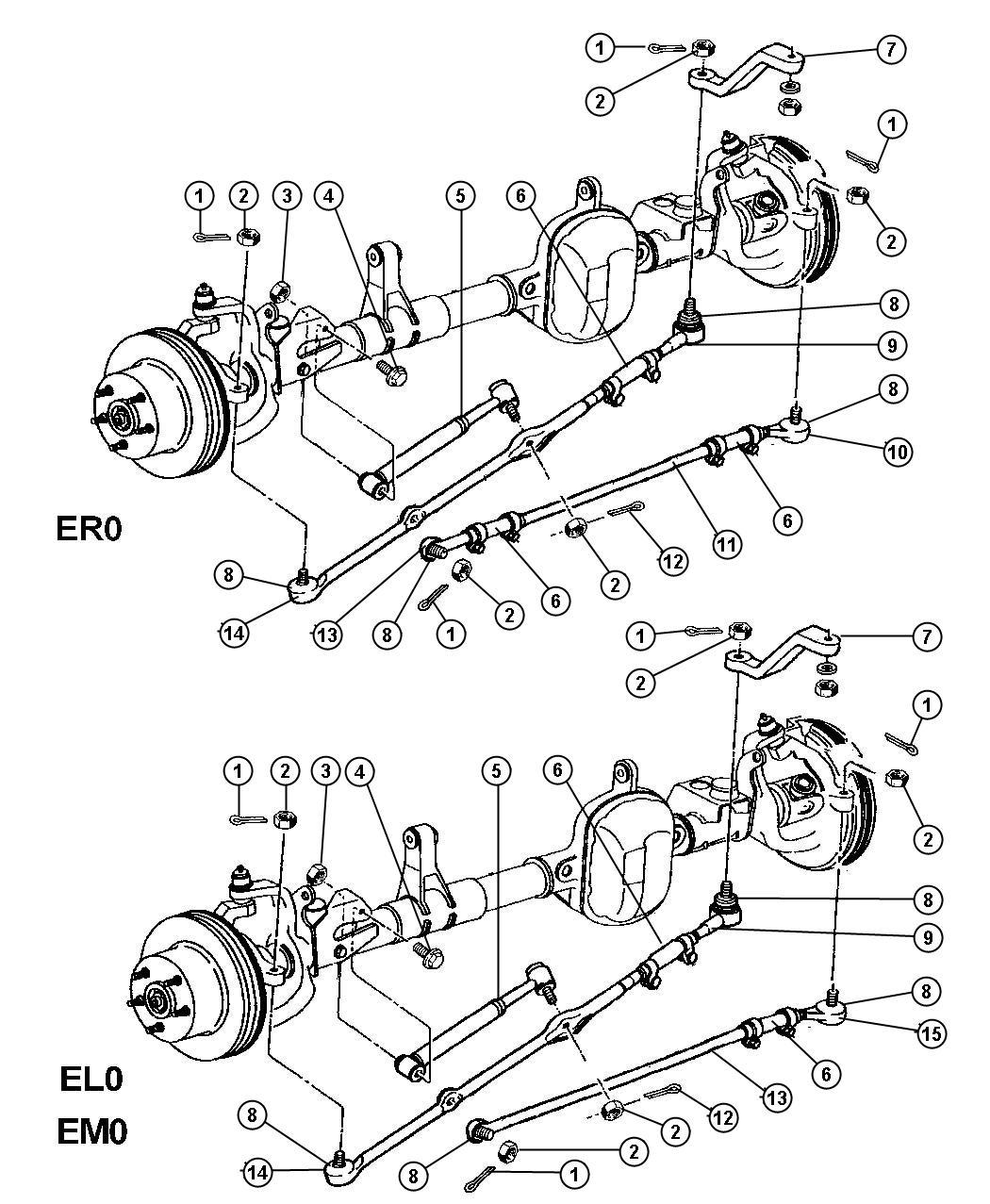 Dodge Dakota Socket Drag Link Outer Right To
