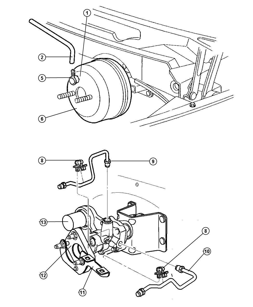 Chrysler Sebring Hydro Booster Power Brake All