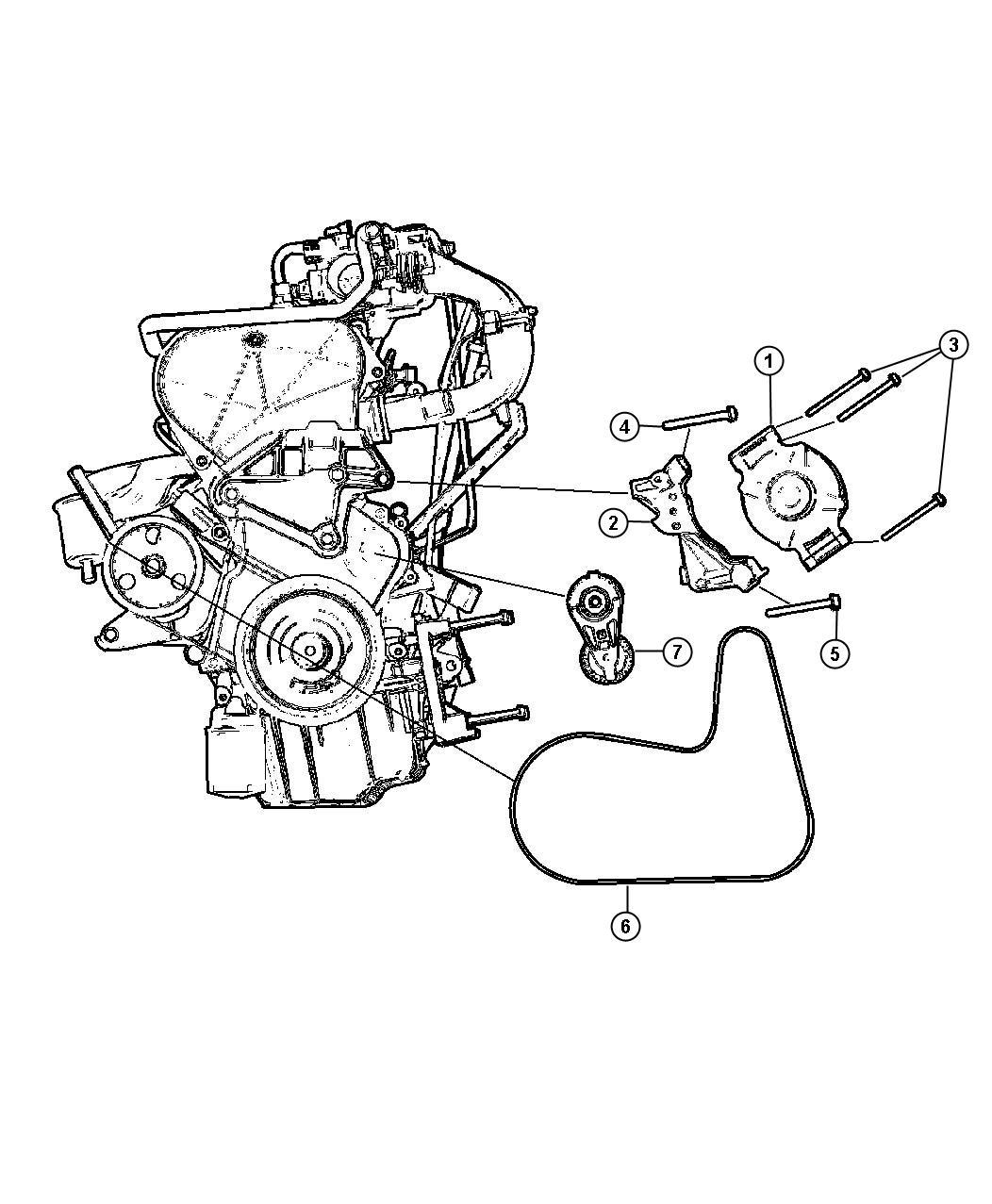Chrysler Voyager Belt Alternator Drive Used For