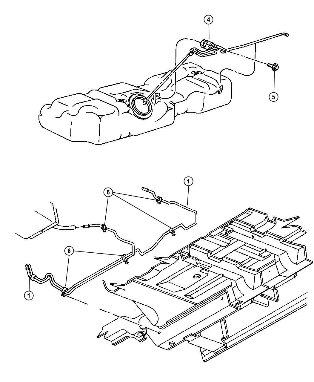 Chrysler Filter Kit Fuel Emissions Tank Gallon