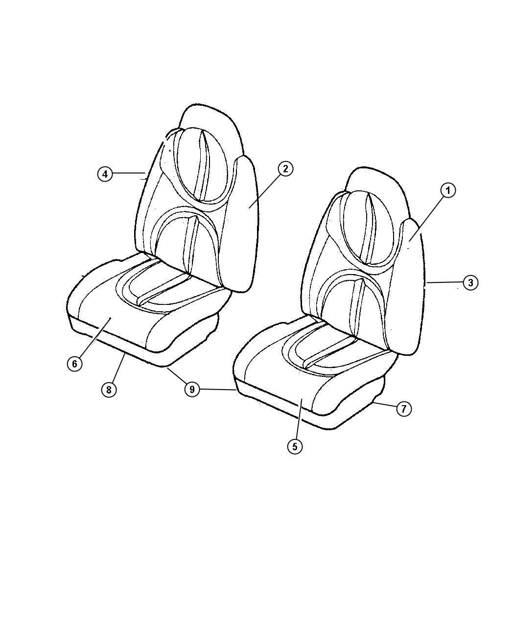 Dodge Durango Cover Front Seat Cushion T5 Trim