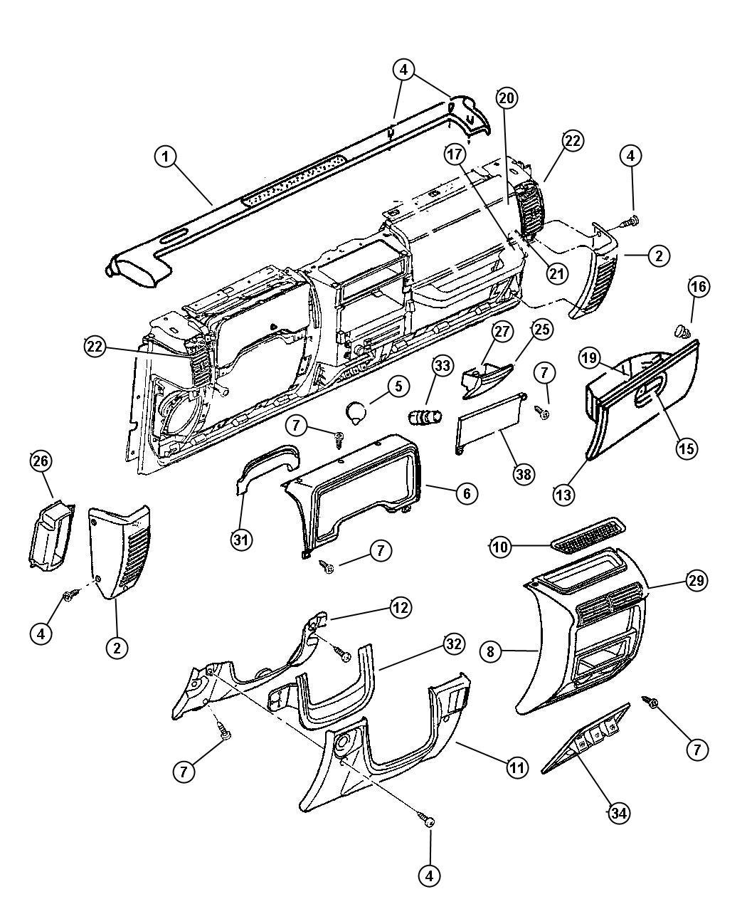 Jeep Wrangler Strap Glove Box Door Stop Check Glovebox Trim O0