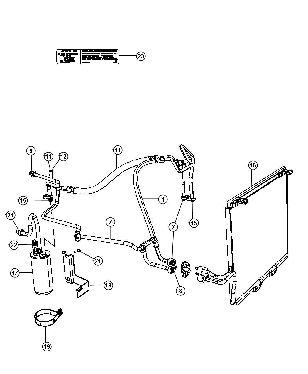 Jeep Wrangler Line A C Discharge Compressor To Condenser