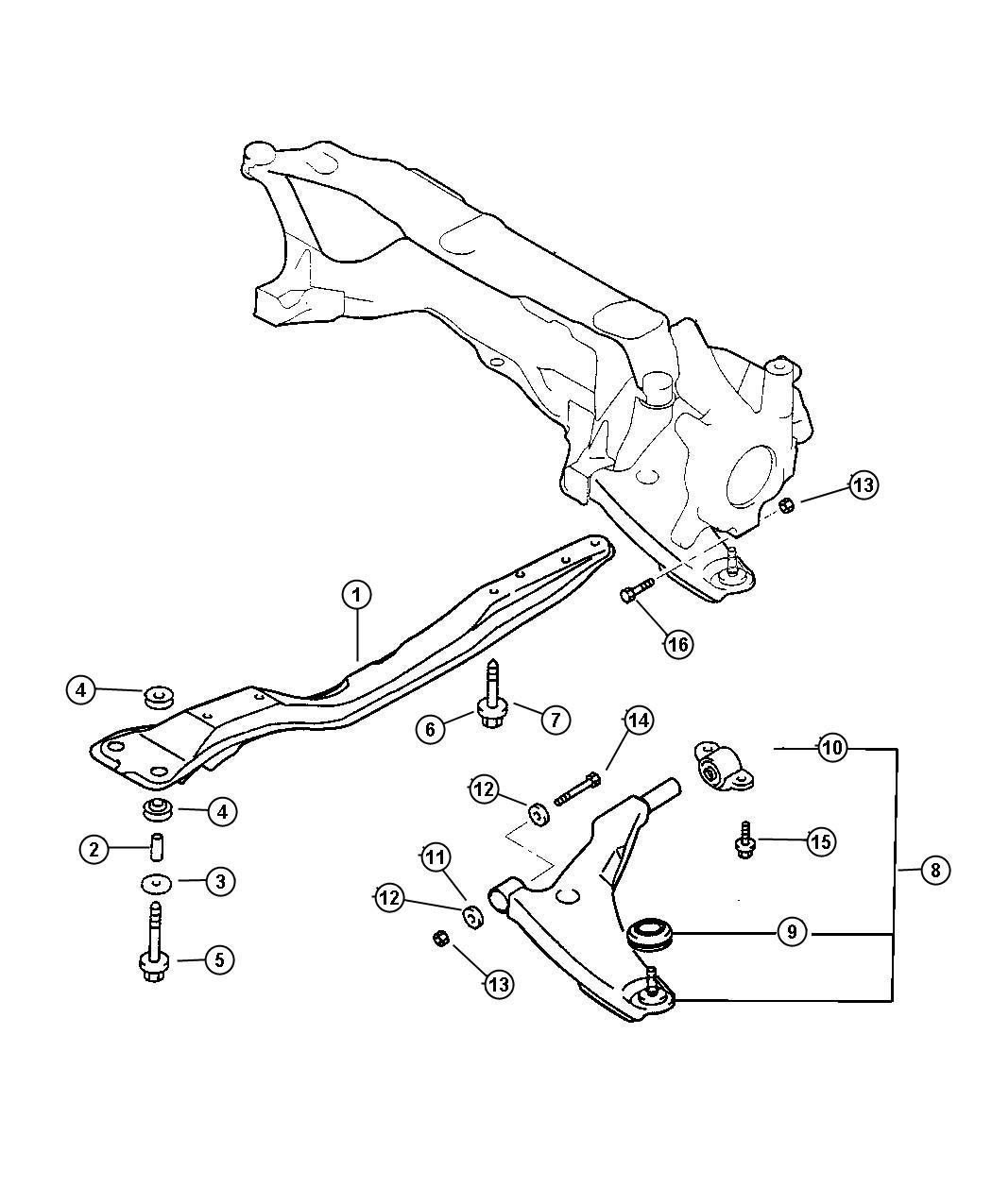 Dodge Ram Collar Front Axle Crossmember