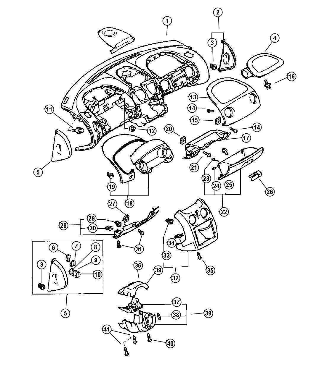 Chrysler Sebring Fuse Mini 10 Amp Red Electrical
