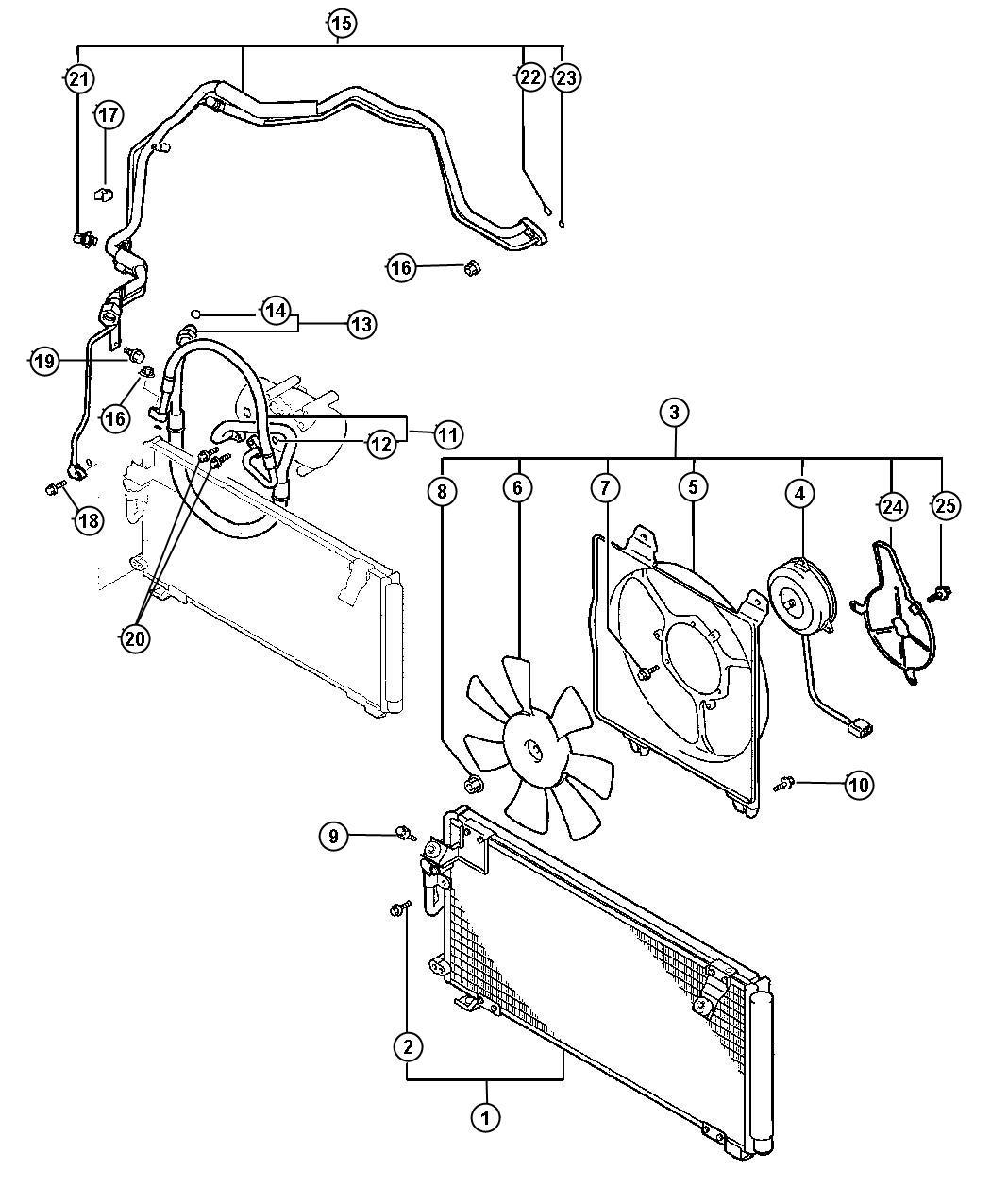 Chrysler Sebring Condenser Air Conditioning Magneti