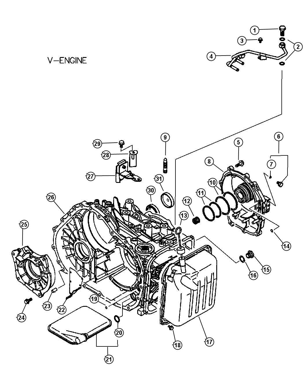 Chrysler Sebring Gasket Fuel Line To Filter Filters