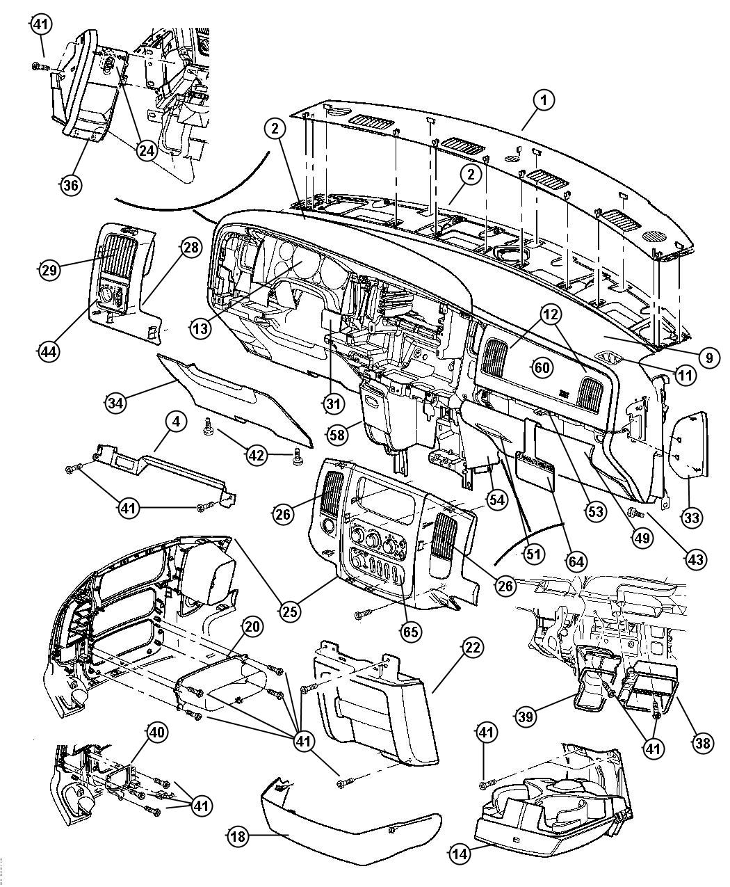 Dodge Ram Bracket Instrument Panel Trim O0 Handle Brake Release