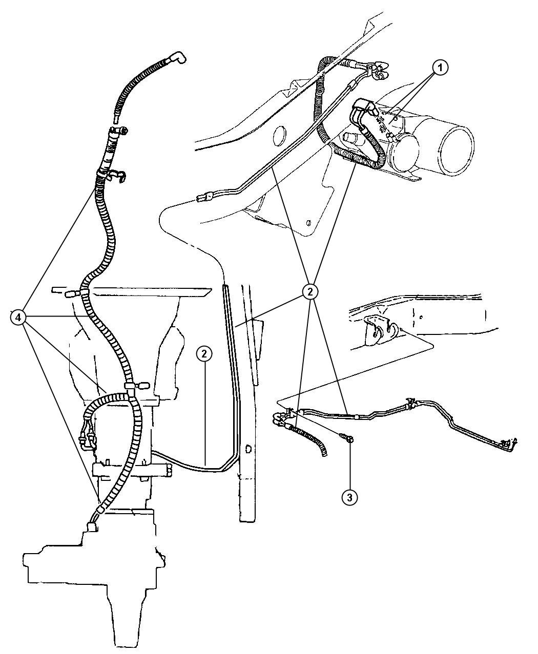Jeep Cherokee Harness Vacuum Front Axle Transfer