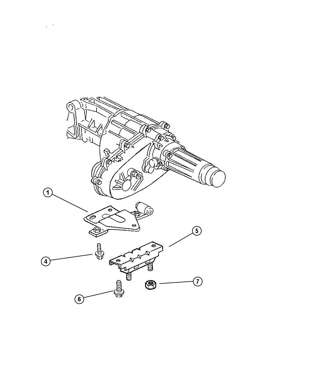Dodge Intrepid Insulator Engine Mount Rear