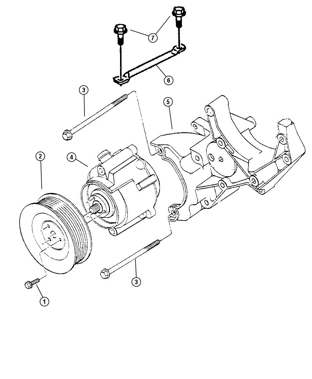 Chrysler Lhs Bracket Used For Air Pump And Tensioner