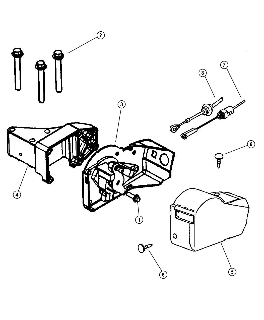 Dodge Intrepid Cable Throttle Valve