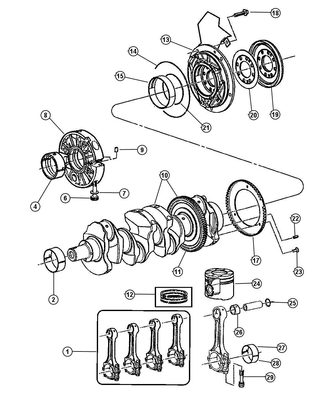 Dodge Ram Seal Crankshaft Oil Rear Main Crankshaft