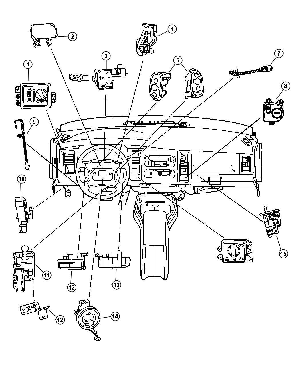 Dodge Ram Switch Parking Brake Front